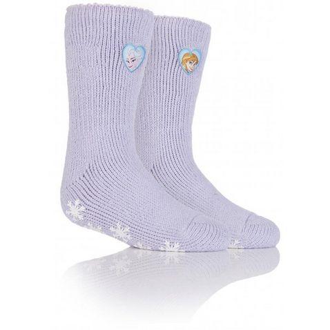 10ba36e2d Lilac HEAT HOLDERS Kids' Frozen Princess Slipper Sock ...