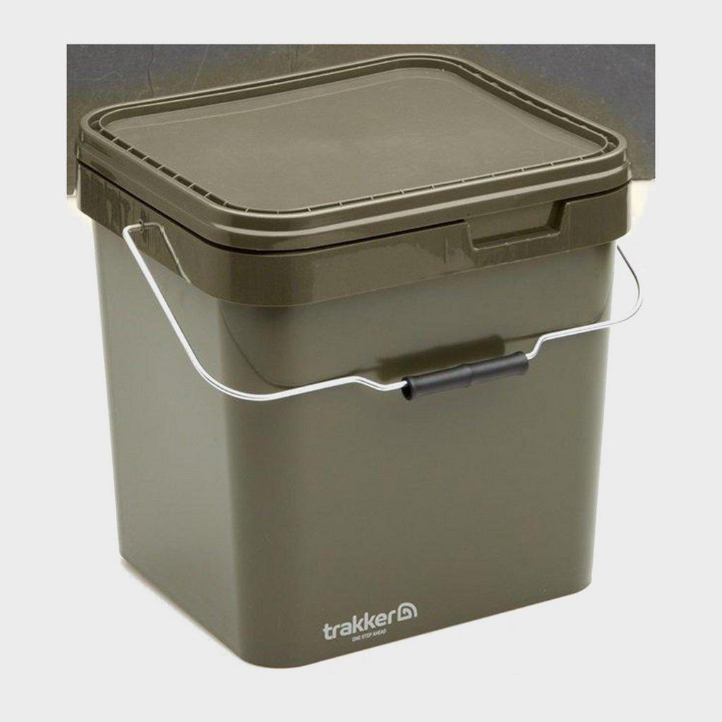 Green Trakker 17 Ltr Olive Square Bucket image 1