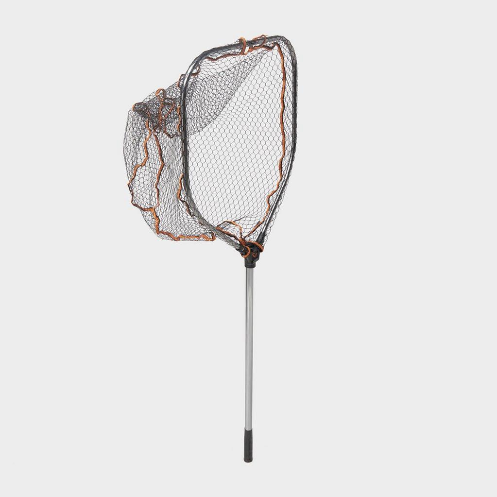 Brown SavageGear Pro Folding Rbr Lrg Mesh Landing Net L - 50803 image 1