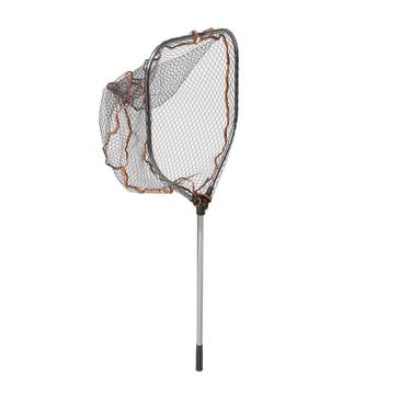 Brown SavageGear Pro Folding Rbr Lrg Mesh Landing Net L - 50803