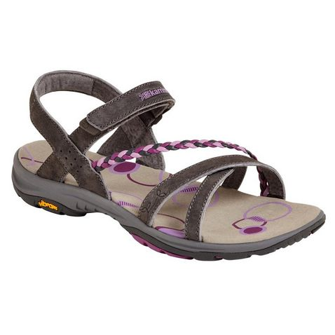 16ef68f1ccbd BLACK-PURPLE KARRIMOR Trinidad 2 Ladies  Sandals