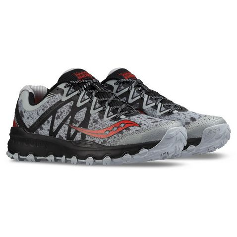 a33bfc21d4fa2 GREY-RED Saucony Caliber TR Women s Trail Running Shoes (UK Size ...