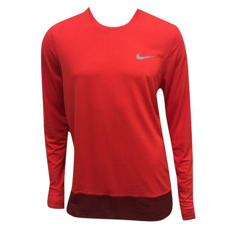 huge selection of 856da 1bcad Orange Nike Breathe Rapid Men s LS Running ...