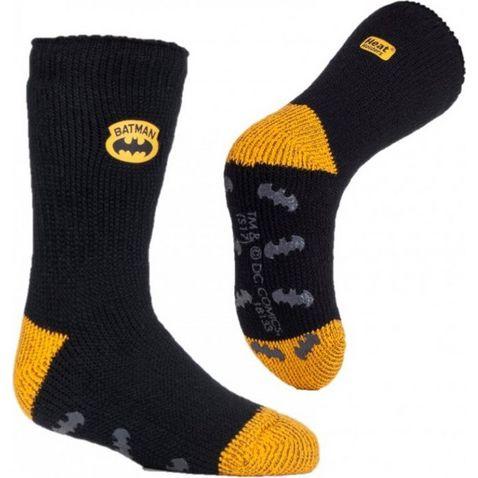 dff8a93d5f731d Black HEAT HOLDERS Kids' Superhero Slipper Socks