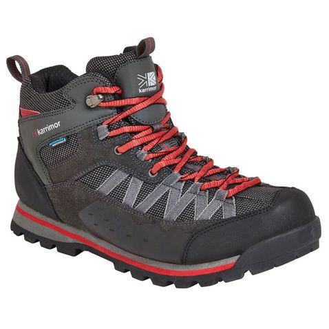 1e6e861f2836 Black-Red KARRIMOR Men's Spike Mid II Weatherite Walking Boots