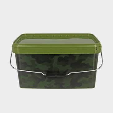 Green NGT 12.5 Litre Square Camo Bucket