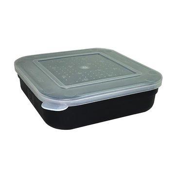 Black FLADEN Fishing Blk 1 5 Pint Square Bait Box