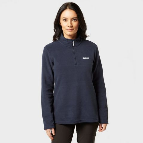 68e91fecf1 Navy REGATTA Women's Sweethart Half Zip Lightweight Fleece ...