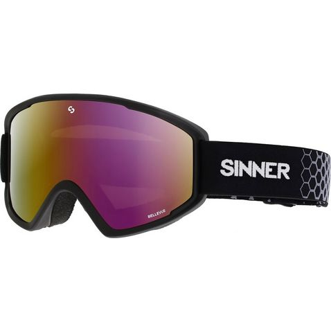8c0d2e9d6 Matte Black SINNER Men's Bellevue Red Mirror Goggles