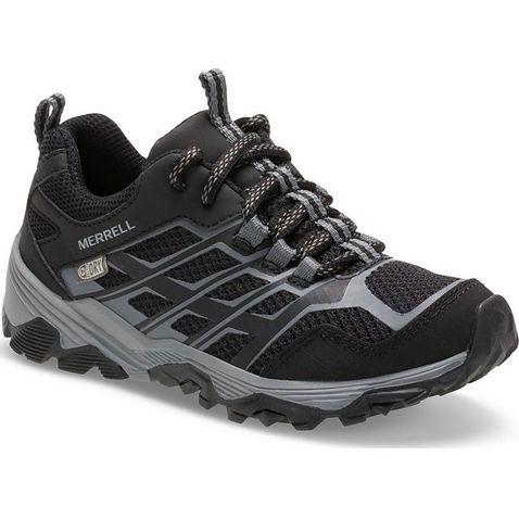 7237de3daa2e Black Merrell Kids  Moab FST Low Waterproof Shoes