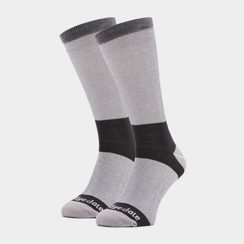 43ee538918a36 Grey BRIDGEDALE Women's Base Layer Coolmax Liner Boot Socks (2 Pai