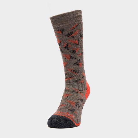 aaca9f23b7e2a BROWN ORANGE BRIDGEDALE Women's Hike Midweight Merino Endurance Boot Socks