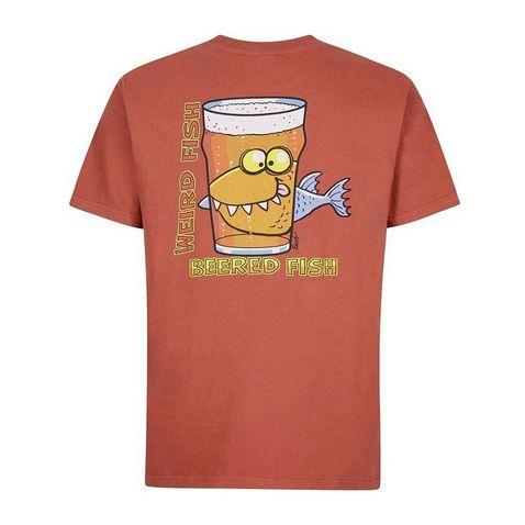 bd371b6c Brick Red WEIRD FISH Men's 'Beered Fish' Artist T-Shirt ...