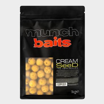 Yellow Munch Baits Cream Seed Boilies 18mm 1kg