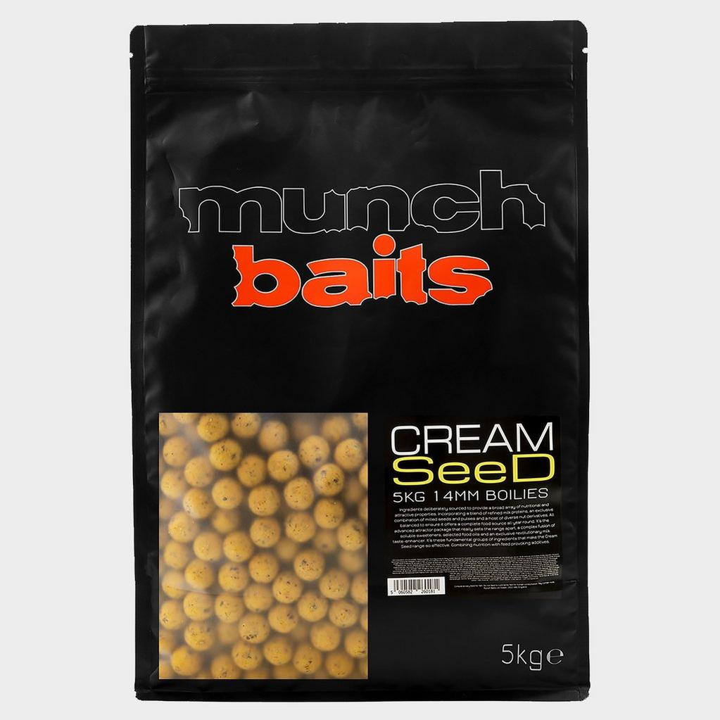 Grey Munch Baits Cream Seed Boilies 14mm 5kg image 1