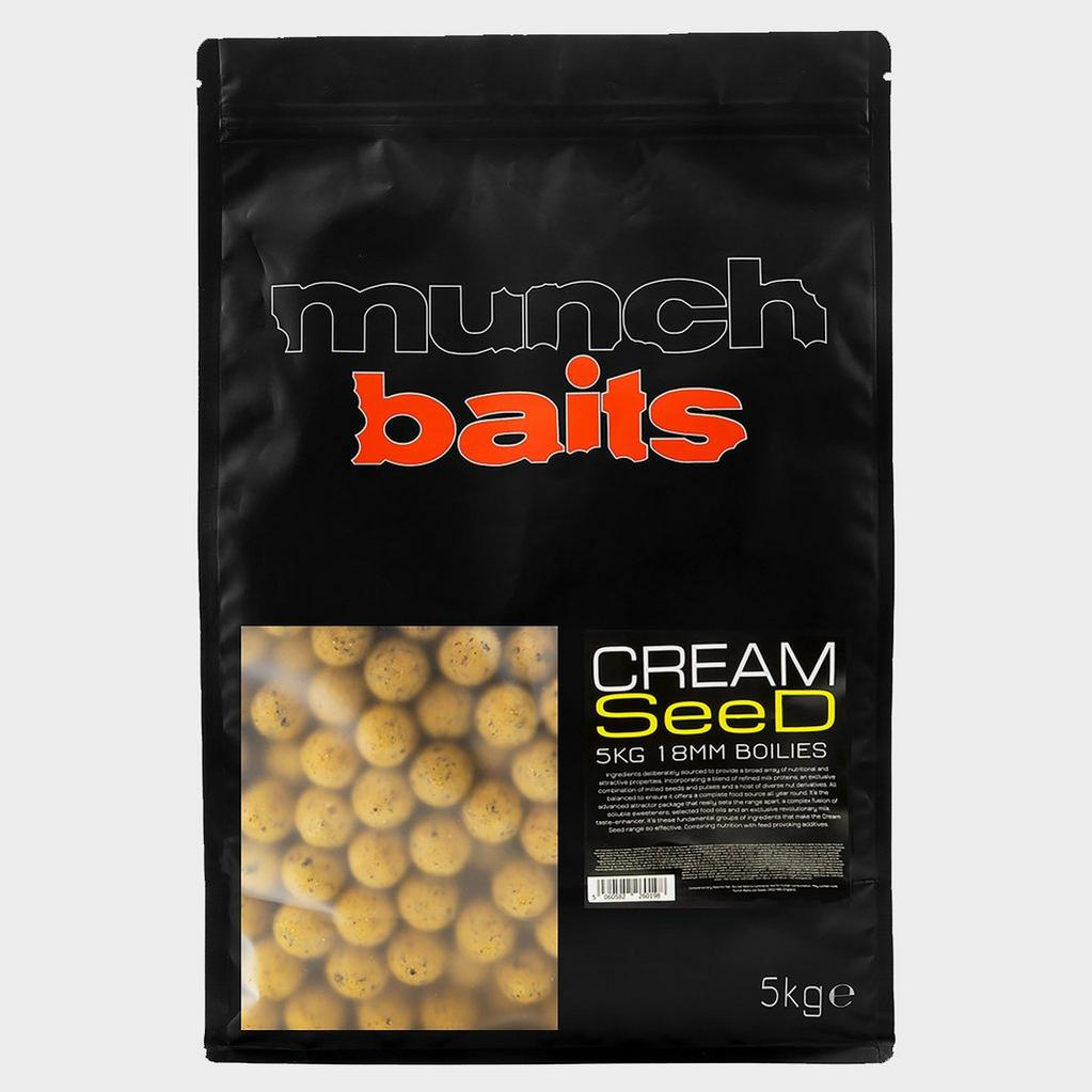 Yellow Munch Baits Cream Seed Boilies 18mm 5kg image 1