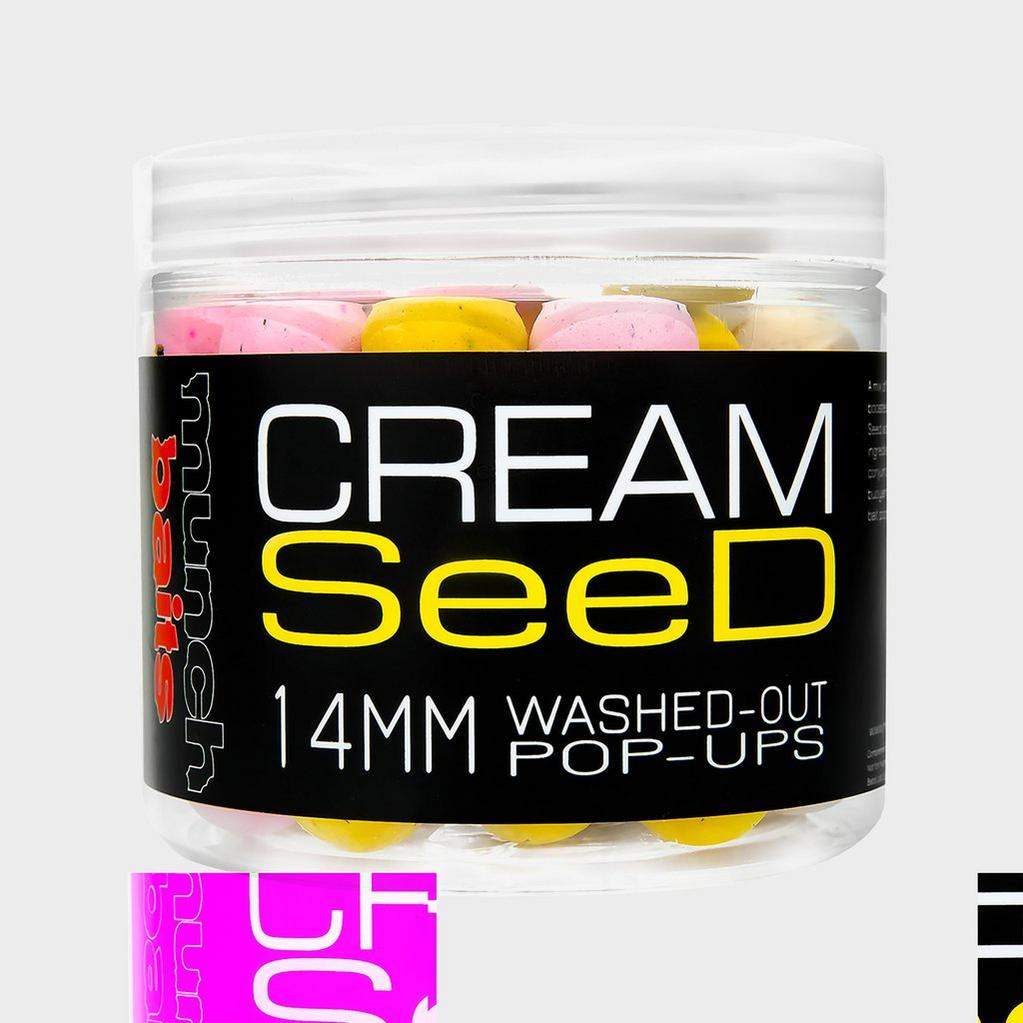 Multi Munch Baits Cream Seed Wshd Out Pop Ups 14mm image 1