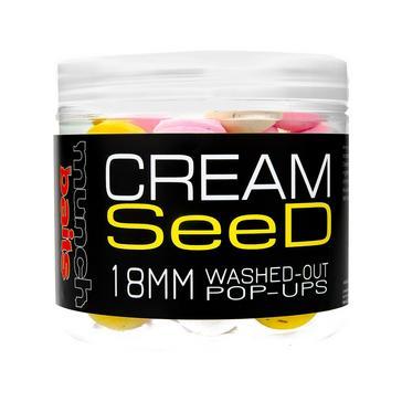 Multi Munch Baits Cream Seed Wshd Out Pop Ups 18mm