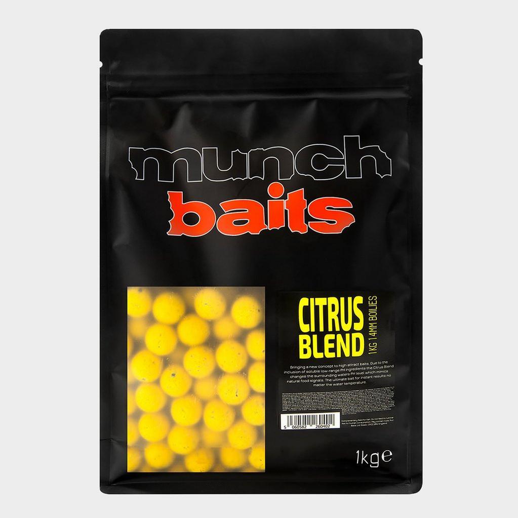 Yellow Munch Baits Citrus Blend Boilies 14mm 1kg image 1