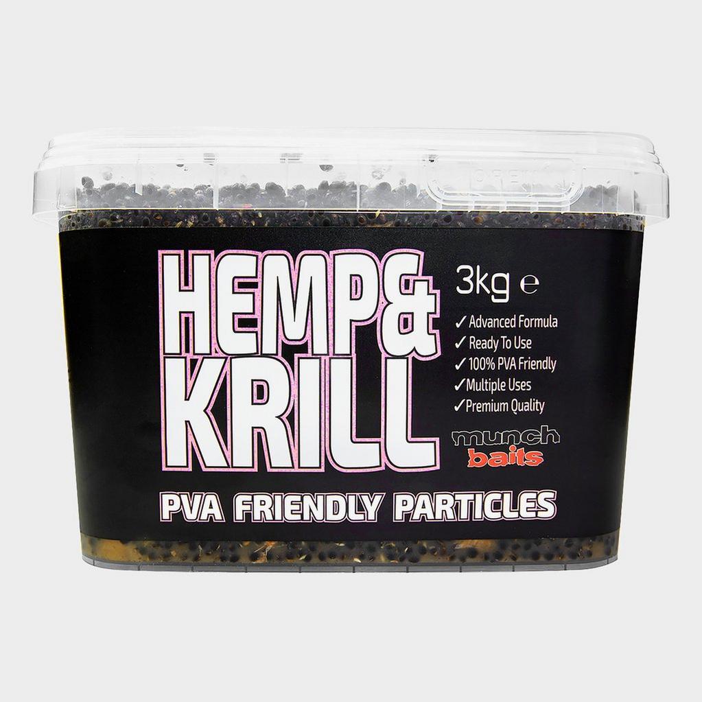 Black Munch Baits Hemp & Krill 3kg Bucket image 1