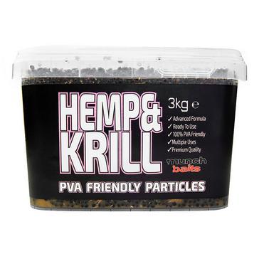 Black Munch Baits Hemp & Krill 3kg Bucket