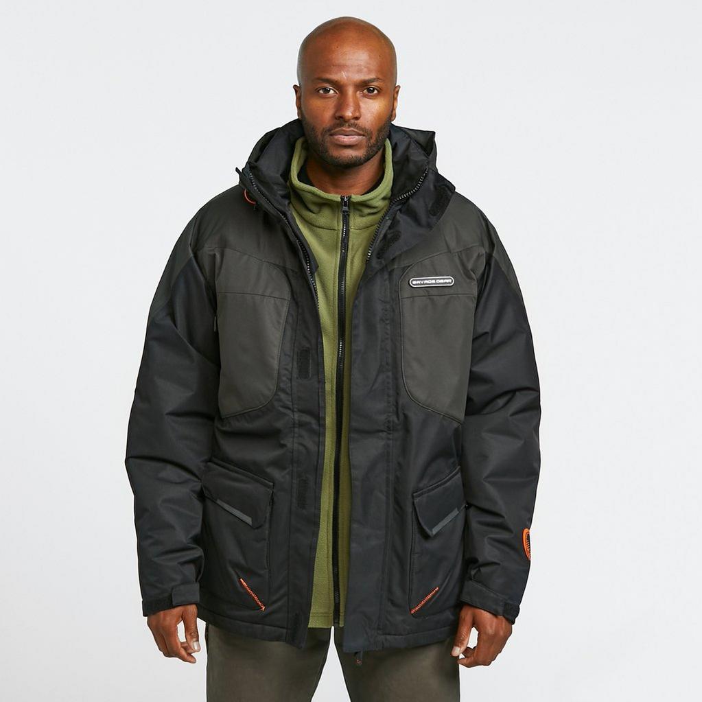 Black SavageGear HeatLite Thermo Jacket image 1