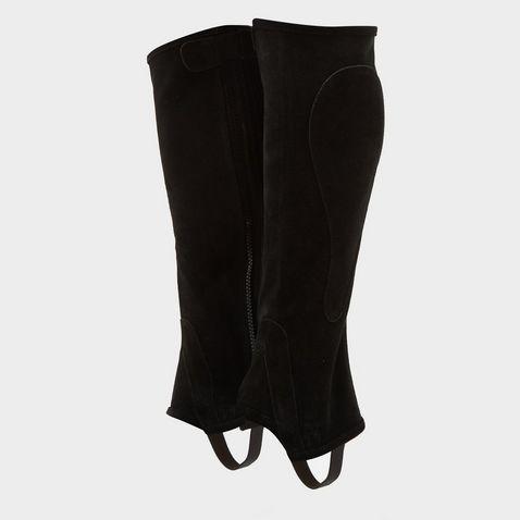 Stripe Minichaps washable Leg chaps Stripe for children black elastic Short chaps children riding boots