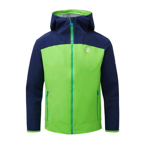8050f358e JASMINE GREEN-CLEARWATER BLUE DARE 2B Kids  Gifted Softshell Jacket