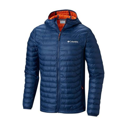 6bc4df92ea76d8 NAVY CARBON Columbia Men's Powder Pass™ Hooded Insulated Jacket ...