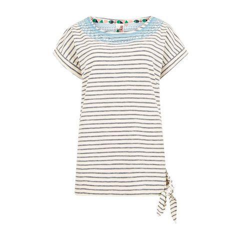 cad515a8a3d Dark Navy WEIRD FISH Women's Hennie Striped Cotton T-Shirt ...