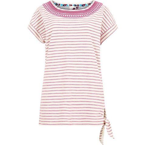 0d92770d1 PURPLE ORCHID WEIRD FISH Women's Hennie Striped Cotton T-Shirt