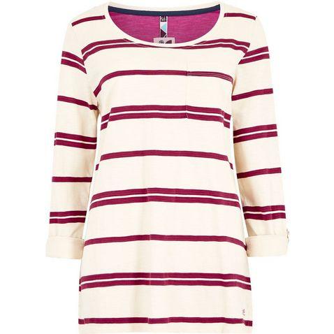 8ce7372ba PURPLE POTION WEIRD FISH Women's Chrissy Striped Cotton T-Shirt ...