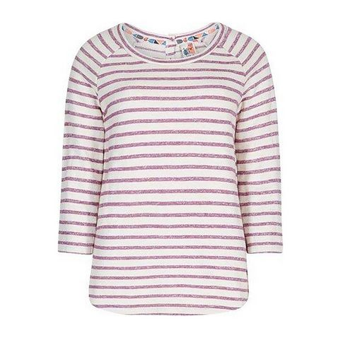 8f3666efd5fb17 PURPLE POTION WEIRD FISH Women's Roxie Striped Crew Neck Top