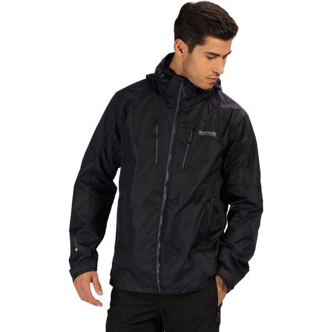 b84b3a13c Black REGATTA Men's Calderdale III Waterproof Jacket ...