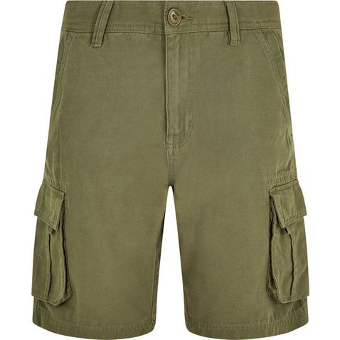 64a344ac31 Dark Olive WEIRD FISH Men's Brize Cotton Twill Cargo Shorts ...