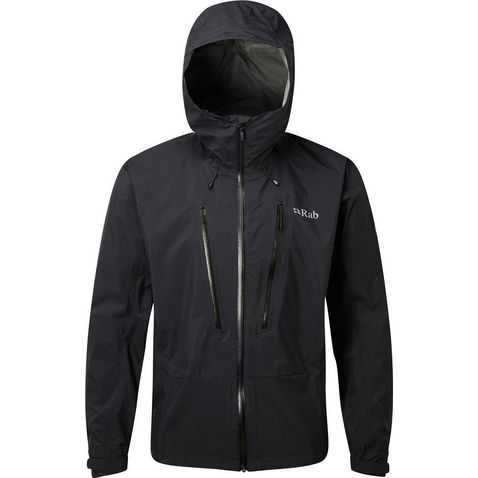 c850f5a1d Black RAB Men's Downpour Alpine Waterproof Jacket