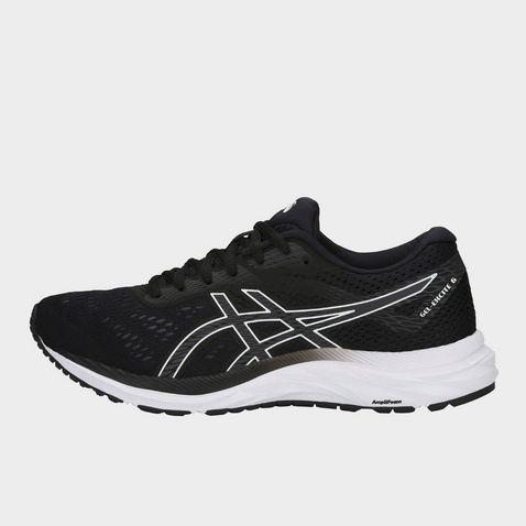 6e5b194fd BLACK WHITE ASICS Women's GEL-Excite 6 Running Shoes