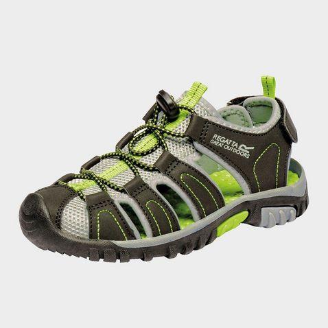 010ee02a6 BLACK-LIME GREEN REGATTA Kids  Westshore Jnr Walking Sandals