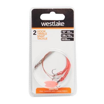 Orange Westlake 2 Hook Treble Steel Trace (Size 8)