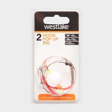 White Westlake 2 Hook Pop Up Rig (Size 6)