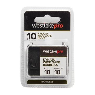 Black Westlake Kykatu Wide Gape Barbless Size 10