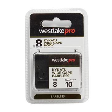Multi Westlake Kykatu Wide Gape Barbless Hook Size 8