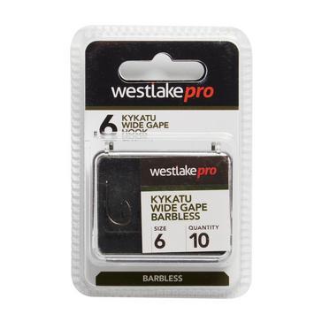 Black Westlake Kykatu Wide Gape Barbless Size 6