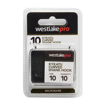 Black Westlake Curved Shank Micro-Barbed Size 10