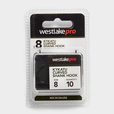 Black Westlake Curved Shank Micro-Barbed Size 8