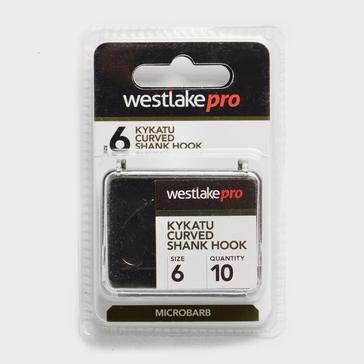 Black Westlake Curved Shank Micro-Barbed Size 6