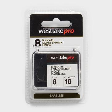 Black Westlake Long Shank Barbless Size 8