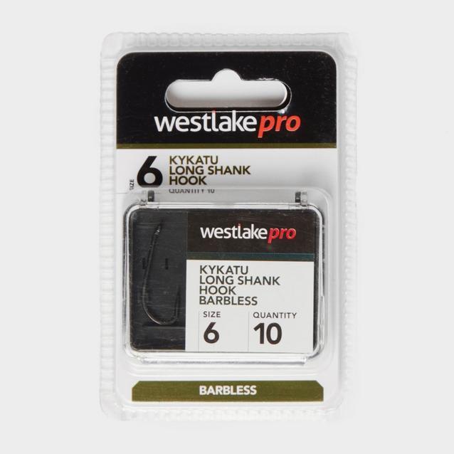Black Westlake Long Shank 6 Barbless image 1