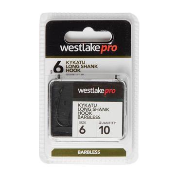 Black Westlake Long Shank Barbless Size 6