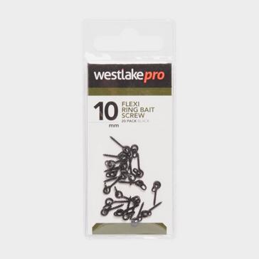 Black Westlake Flexi Ring Bait Screw 20Pk